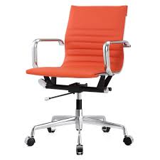 Orange Chair Office Chair In Vegan Leather Color Options