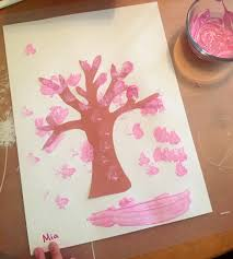 cherry blossom home decor sponge painting cherry blossoms ms stephanie u0027s preschool