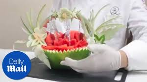 fruit by mail culinary artist creates watermelon fruit basket daily