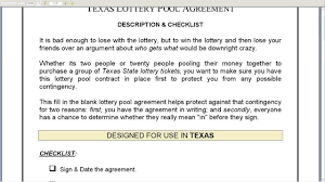 Lottery Syndicate Spreadsheet Lottery Contract Template 17 Images Lottery Syndicate