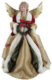 christmas angel santa s workshop christmas angel tree topper reviews wayfair