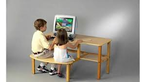 Kids Computer Desk by Wild Zoo Furniture Childs Wooden Computer Desk For 1 To 2 Kids