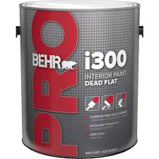 behr pro 1 gal i300 white flat interior paint pr31001 the home