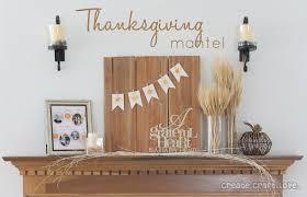 thanksgiving mantel create craft