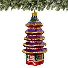 five storied pagoda ornament glass