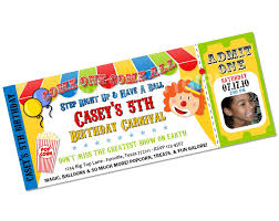 clown carnival circus big top birthday party invitations