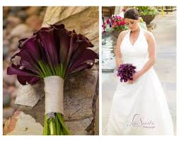 Flowers In Scottsdale Az - purple calla lily bridal bouquet wedding bouquets and reception