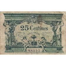 chambre de commerce angers 49 angers chambre de commerce 25 centimes 1915 tres beau