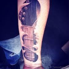 Tattoos Forearm - 71 splendid guitar tattoos on forearm
