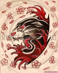 flaming panther head tattoo design tattoo viewer com