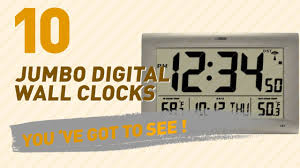 ivation clock jumbo digital wall clocks new u0026 popular 2017 youtube