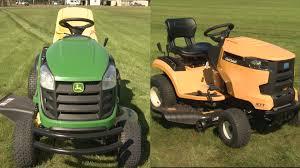 cub cadet vs john deere lawn tractor face off consumer reports