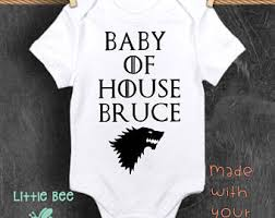 customized baby items of thrones baby etsy