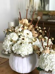 white floral arrangements white pumpkin floral arrangements