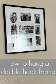 How To Hang A Picture An Easy Way To Hang A Double Hook Frame Bonnie Donahue