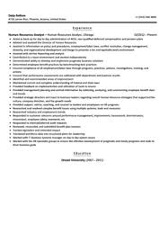 Human Resource Resume Sample by Human Resources Analyst Resume Sample Velvet Jobs