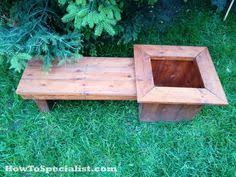 diy planter bench plans howtospecialist how to build step by