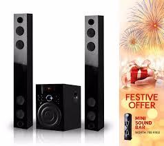 lg home theater with bluetooth buy starc sbc34 twin tower soundbar with bluetooth usb fm radio