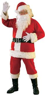 rubie s bright flannel santa suit with gloves