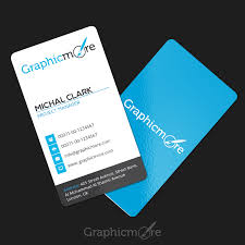clean vertical rounded corner business card template design free psd