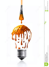 Light Orange Color by Orange Color Dripping Making A Light Bulb Shape Stock Images