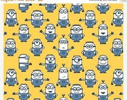 minion wrapping paper minion fabric etsy