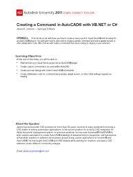 v1 cp2602 l creating a command auto cad microsoft visual studio
