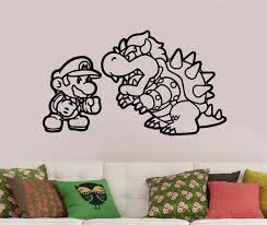 wall decals stickers home decor home furniture diy super mario wall decal removable vinyl sticker video game art nursery decor sum1