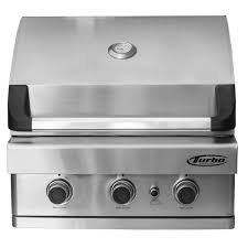 turbo 3 burner built in gas grill barbeques galore