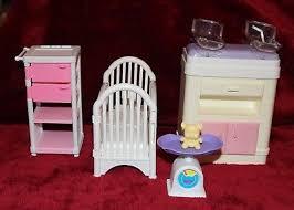 vintage barbie baby doll nursery furniture twins scale teddy bear