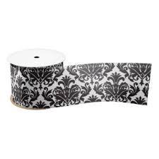 damask ribbon black white damask craft ribbon zazzle