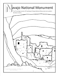 free indian coloring pages navajo national monument coloring page