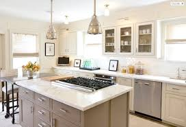kitchen island with cooktop taupe kitchen island transitional kitchen hill