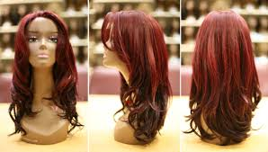red hair color on black women dark red human hair wigs
