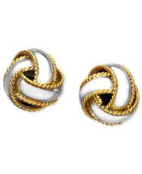knot earrings giani bernini 24k gold sterling silver earrings knot