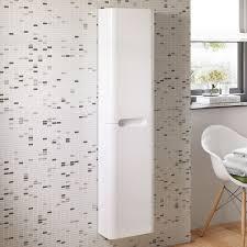 Cheap Bathroom Storage Units Wonderful White Gloss Bathroom Storage Unit Dkbzaweb