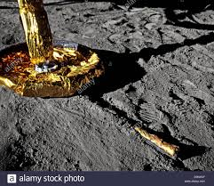 Picture Of Flag On Moon Moon Landing Lunar Module Eagle Flag And Astronaut 20 July 1969