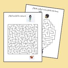 free printable lego maze lego friends animals activity book of mazes kids travel activity