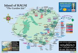 Map Of Usa And Hawaii by Map Of Kauai Kauai Island Hawaii Tourist Map See Map Details