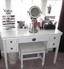 contemporary white bedroom vanity set table drawer bench vanity table white wooden makeup storage with toe drawers on the