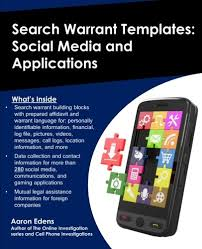 search warrant templates social media and applications online