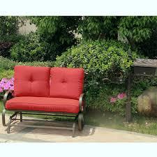 Patio Loveseat Glider Outdoor Glider Rocking Chair Garden Patio Loveseat Furniture Swing