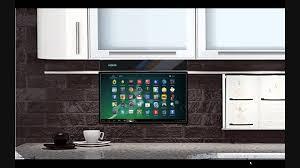 tv in kitchen ideas eidola cabinet 17 smart tv