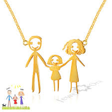 Custom Necklace Pendants Personalized Pendant Necklace 925 Sterling Silver Loving Family