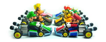 6pcs super mario bros kart pull cars action figures 5