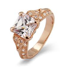 princess cut gold engagement rings style gold princess cut cz engagement ring s addiction