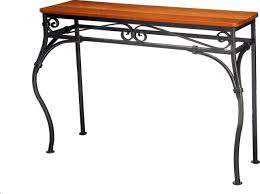 Hallway Table With Drawers Furniture Scroll Console Table Rustic Wood And Metal Console