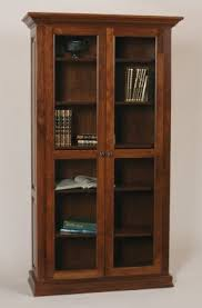 Wooden Bookcase With Glass Doors Bookcase With Glass Doors Foter