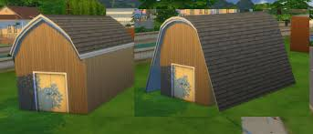 Hip Roof Barn by The Sims 4 Building Roofs