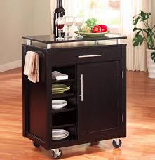 kitchen cart wheels leather upholstered sofa rich wooden cabinet